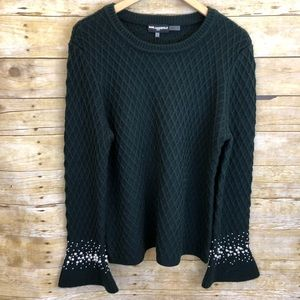 Karl Lagerfeld Quilted Pearl Sweater Large